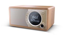 Sharp DR-450 stereo DAB+ radio met FM en Bluetooth, bruin