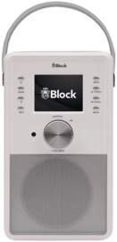 Block CR-10 ToGo! oplaadbare Smartradio met DAB+, internet, USB en Spotify, wit