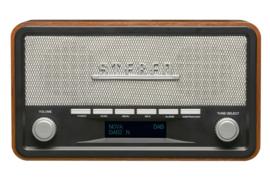 Denver DAB-18 stereo houten DAB+ en FM digital radio met Bluetooth