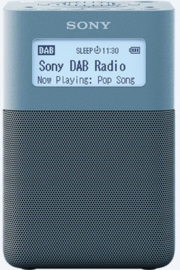 Sony  XDR-V20D draagbare oplaadbare stereo wekker radio DAB+ FM, blauw