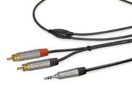 Stereo kabel: hoogwaardige 3.5mm mini-jack naar dubbel tulp - 150 centimeter