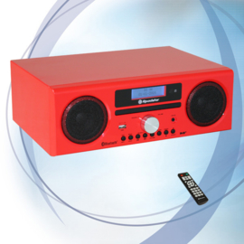 Roadstar HRA 9 RD stereo DAB+ radio met CD, USB en Bluetooth, rood
