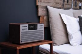 Revo SuperCD hifi stereo systeem met CD, Bluetooth, DAB+, Internetradio en Spotify, walnoot-zilver