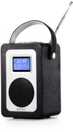 Steljes audio SA20 draagbare oplaadbare radio met DAB+, FM en Bluetooth, zwart