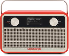 Nordmende Transita 120 IR oplaadbare draagbare internet, DAB+ en FM radio, rood