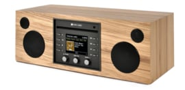 Como Audio Musica hifi stereo alles-in-1 radio met wifi internet, DAB+, CD, Spotify en Multi room, Hickory