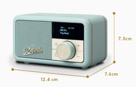 Roberts Revival Petite mini DAB+ en FM radio met Bluetooth ontvangst, Duck Egg
