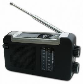 POWERplus Cheetah opwindbare AM / FM radio met zonnepaneel