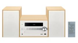 Pioneer X-CM56D stereo HiFi systeem met CD, DAB, FM, USB en Bluetooth, hout - wit