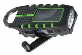Eton Scorpion Opwindbare / Solar outdoor radio / lamp - Groen