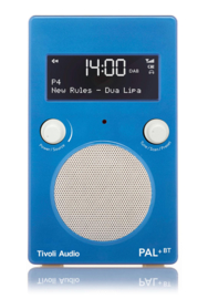 Tivoli Audio Model PAL+ BT oplaadbare radio met DAB+, FM en Bluetooth, blauw-wit