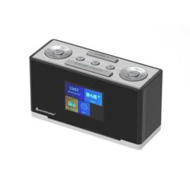 Soundmaster UR240 SW DAB+ wekkerradio met FM, zwart