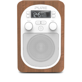 Pure Evoke H2 compacte DAB+ en FM keuken radio, walnoot