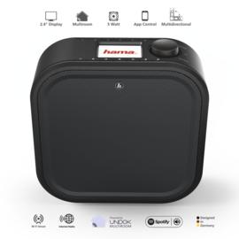 Hama DIR355BT onderbouw DAB+ en internet digitale radio met Spotify Connect, FM en Bluetooth, zwart