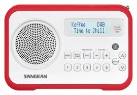Sangean DPR-67 portable digitale DAB+ en FM radio, rood