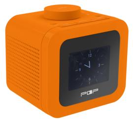 POP RADIO POPup2 DAB+/FM wekkerradio met 2 instelbare alarmen, dimbaar scherm én eierwekker-functie, oranje