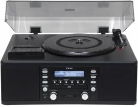 TEAC LP-R500A Multi Audiosysteem LP / CAS / CD / AM / FM / Recorder, zwart