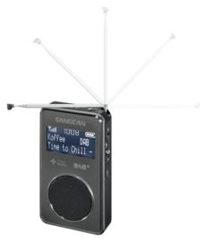 Sangean Pocket 350 (DPR-35) oplaadbare pocketradio met DAB+ / FM en speaker, zwart