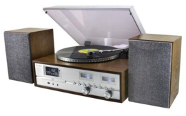 Soundmaster Elite Line PL880 Retro HiFi-systeem met DAB+ radio, CD, platenspeler en Bluetooth