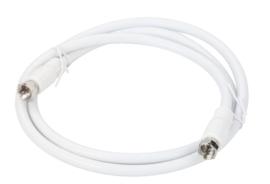 High grade antenne kabel met F-connectors male, 2 meter