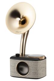 Sangean CP-100D DAB+ en FM retro radio met Bluetooth met ingebouwde accu, Fabric Black-Gold