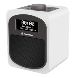 Roadstar HRA 600 D+ compacte DAB+ en FM radio met alarm, wit