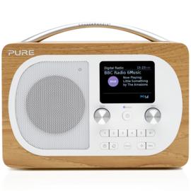Pure Evoke H4 draagbare DAB+, FM en Bluetooth radio, eiken