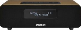 Sangean DDR-36 digitale tafelradio met DAB+, FM en Bluetooth, bruin