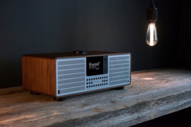 Revo SuperSystem stereo internetradio met Bluetooth, Spotify, USB en DAB+, walnoot-zwart