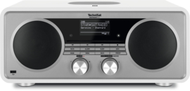 TechniSat DigitRadio 601 hifi audio radio met DAB+ en FM ontvangst, internet radio, CD-speler en Bluetooth streaming, wit