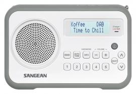 Sangean DPR-67 portable digitale DAB+ en FM radio, grijs