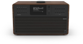 Revo SuperCD hifi stereo systeem met CD, Bluetooth, USB, DAB+, Internetradio en Spotify, walnoot-zwart