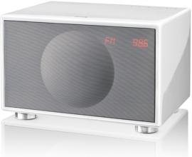 Geneva Classic /M stereo hi-fi speaker met FM en DAB + radio, Bluetooth en alarmklok, wit