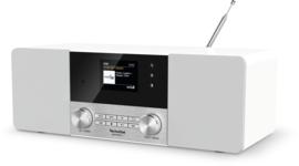TechniSat DigitRadio 4C stereo tafelradio met DAB+ digital radio, FM en Bluetooth, wit