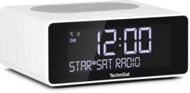 TechniSat DigitRadio 52 stereo wekker radio met DAB+ en FM, draadloos Qi laden, wit, OPEN DOOS