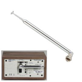 DAB+ / FM / DVB-T telescoopantenne met F connector, 7 segmenten, 113 cm