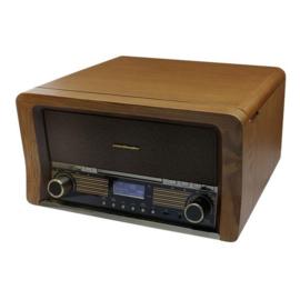 Soundmaster NR50 retro muzieksysteem, platenspeler, CD, DAB+, FM en USB