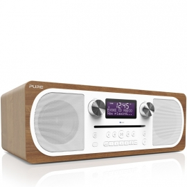 Pure Evoke C-D6 stereo digitale DAB+ radio met CD en Bluetooth, Walnoot