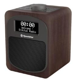 Roadstar HRA 600 D+ compacte DAB+ en FM radio met alarm, hout