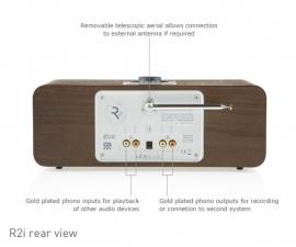Vita Audio R2i DAB DAB+ FM iPod iPhone muzieksysteem in walnoot