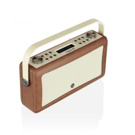 View Quest Hepburn MK 2 DAB+ radio met FM en Bluetooth, Brown