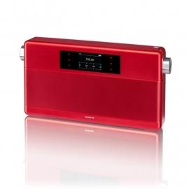 Geneva WorldRadio DAB+ met FM, Bluetooth en alarm in rood