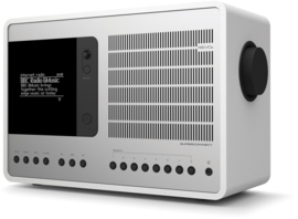 Revo SuperConnect radio met DAB+, internet, streaming, Bluetooth en Spotify, matwit zilver