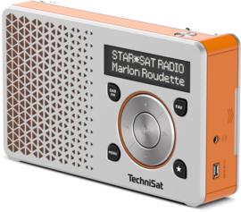 TechniSat DigitRadio 1 portable DAB+ en FM radio met  oplaadbare accu, zilver-oranje