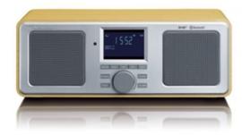 Lenco DAR-015 Stereo DAB+ en FM radio met Bluetooth, alarm en presets, hout