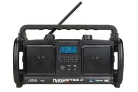 Perfectpro HANDSFREE 2 stereo werkradio met DAB+, FM,  Bluetooth en USB-speler