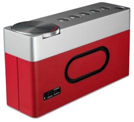 Geneva Touring / S+ oplaadbare portable hi-fi DAB+ en FM radio met Bluetooth, rood