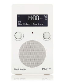Tivoli Audio Model PAL+ BT oplaadbare radio met DAB+, FM en Bluetooth, wit