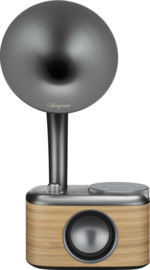 Sangean CP-100D DAB+ en FM retro radio met Bluetooth met ingebouwde accu, Light Wood-Grey