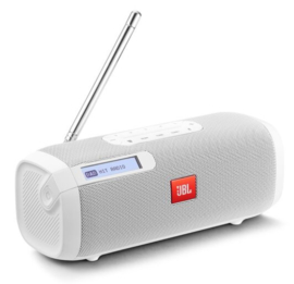 JBL Tuner oplaadbare Bluetooth luidspreker met DAB+ en FM radio, wit